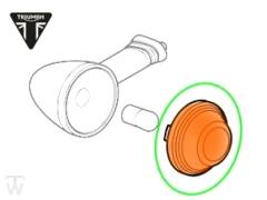 Blinkerglas orange Bonneville T120 Black