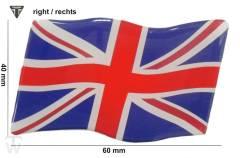 Union Jack 3D Aufkleber rechts (dynamische Flagge) Bonneville T100 EFI